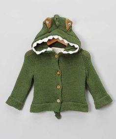 Green Crocodile Sweater - Infant & Toddler by Toto Knits on today! Our Baby, Baby Boy, Tutu, Animal Sweater, Sweater Making, Toddler Girl, Infant Toddler, Couture, Little Ones