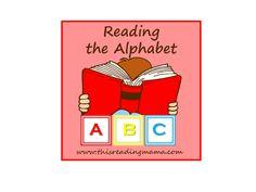 Reading the Alphabet, prek reading curriculum