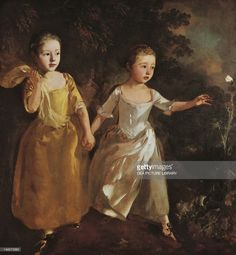 The painter's daughters chasing a butterfly, by Thomas Gainsborough (1727-1788), oil on canvas. (Photo by DeAgostini/Getty Images); London, National Gallery.
