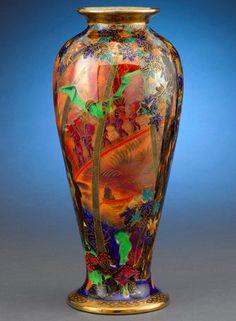 "Wedgwood Fairyland Lustre vase designed by Susannah Margaretta ""Daisy"" Makeig-Jones (1881-1945)"