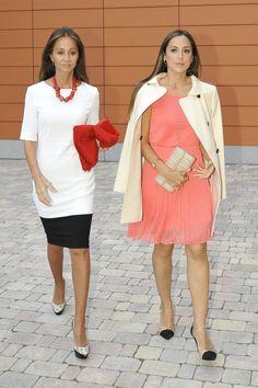 Isabel Preysler y Tamara Falcó en la graduación de Ana Boyer