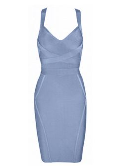 Material: Rayon/Nylon/SpandexLength: Above KneeX in the backV NecklineVisible ZipperDry Clean Only