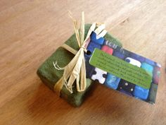 Natural hand felted soap £4.00