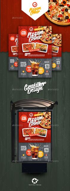 #Restaurant Poster Templates - #Signage Print #Templates Download here:  https://graphicriver.net/item/restaurant-poster-templates/19545802?ref=alena994