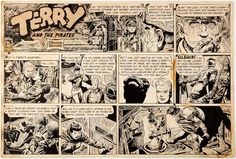 George Wunder Terry and the Pirates Sunday Comic Strip Original Art   Lot #13097   Heritage Auctions