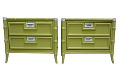 One Kings Lane - Sun-Drenched Rooms - Faux-Bamboo Nightstands, Pair One Kings Lane, Furniture Decor, Painted Furniture, Vintage Furniture, Rattan, Wicker, Faux Bamboo, Locker Storage, Nightstands