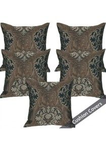 Set of 5 Cushion Cover Black Chocolate