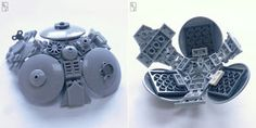Kevin Levell creates 3 spaceships out of globes that he built using LEGO® part 27255 for our parts festival. Lego Spaceship, Lego Craft, Cool Lego Creations, Lego Parts, Lego Projects, Lego Building, Legos, Awesome Lego, Advent Calendars