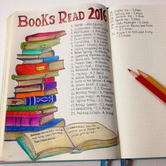 My goal this year is to read at least 80 books! Of course I have to note them in my bullet journal.