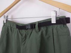 REI Casual Outdoor Cargo Shorts UPF 50+ Men's Size Medium Gren w/ Black Belt