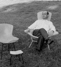 Harry #Bertoia seated in the Bird Chair. #knoll kids #modernalways