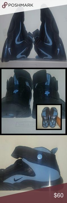 Air Penny IV Retro sz:10.5 Nike Air Penny IV Retro from 2006. Baby Blue suede, Black leather, and velcro. Good condition other than slight creases at top of toe box. Strap and velcro in the shoe all present and in good condition. No box. Willing to negotiate price.     Tags: Sneakers Air Jordan Nike Foamposites Yeezy Jumpman 23 Retro Nike Shoes Athletic Shoes
