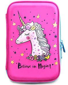 Sky Blue Unicorn Pencil Case Think