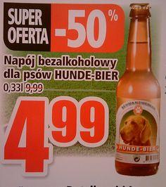 Żeby Twój pies miał co popijać w trakcie meczu... :) Corona Beer, Beer Bottle, Drinks, Food, Pet Dogs, Drinking, Beverages, Essen, Beer Bottles