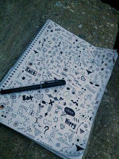 doodles grunge drawings doodle easy drawing notebook hipster sharpie cool desenhos tatuagens heart meu mundo zeichnungen draw kritzeleien tattoo falsas