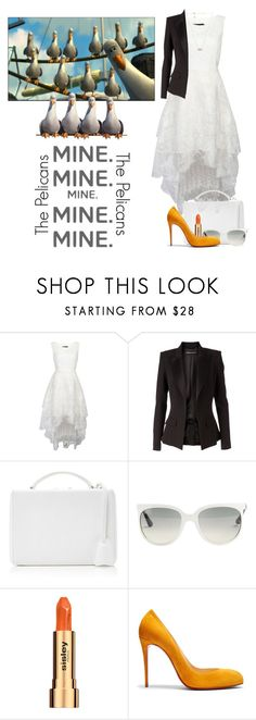 """""""The Pelicans"""" by allyssister ❤ liked on Polyvore featuring Alexandre Vauthier, Mark Cross, Ray-Ban, Sisley, Christian Louboutin and Kendra Scott"""