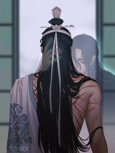 Lan Zhan's Untamed (Lan Zhan x Wei Wuxian) Manga Anime, Manga Art, Fanart, Character Inspiration, Character Art, Drame, Fujoshi, Asian Art, Anime Couples