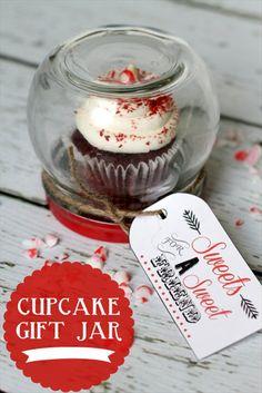 mason jar ideas - cupcake gift jar by Liluna