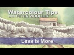 ***** 5 Stars - great info for mixing natural grays.  Watercolour Tip from PETER WOOLLEY: Less is More