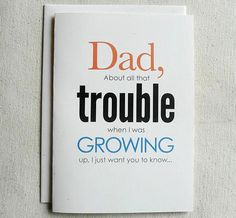 Father Birthday Card Funny Dad About all by SevenMilesPerSecond, $4.00