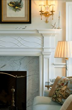 Freshen Your Home for the New Year -- Wall Paint! | fabulous fireplace mantel by Archer and Buchanan