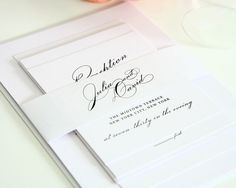 Vintage Glam Wedding Invitation - C & G