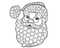 Mikołaj do wyklejania - Moje Dzieci Kreatywnie