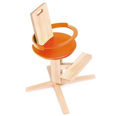 The adjustable, award-winning design high chair made of sustainable wood.