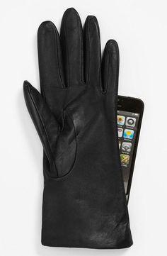 Cashmere tech gloves.