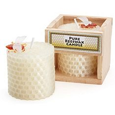 Beeswax candle -- great idea for fall wedding favor.