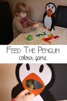 Feed the Penguin, a fun winter themed colour game for preschoolers