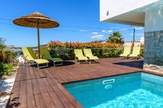 Villa Casa Levante - Villa in Albufeira from the beach w / heated pool - Municipality of Albufeira Pool Bathroom, Cafe House, Bedroom Night, Heated Pool, Property Management, Terrace, Swimming Pools, Villa, Backyard