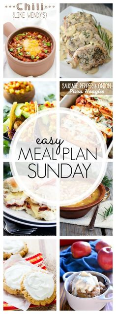The BEST Easy Meal Plan, packed with dinners, breakfast, and desserts! Guaranteed to make your week easier!