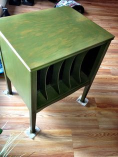 Refinished Grandma Tatta's record table