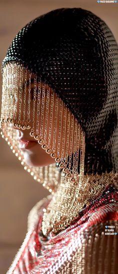 Metal Fashion, Paco Rabanne, Detail, Hats, Beautiful, Hat