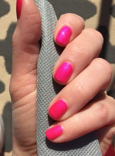 CND Shellac Future Fuchsia over Tutti Frutti (no filter)