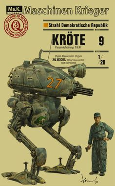 Battle robot cybersuit cyber comic book cover art pulp retro futurism back to the future tomorrow tomorrowland space planet age sci-fi airship steampunk dieselpunk