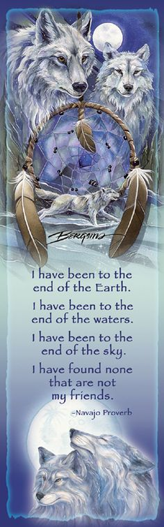 Bergsma Gallery Press::Products::Bookmarks::Wild Land Animals::Wolves and Wild Dogs::Wolves / Nothing Can Hold Back A Dream - Bookmark