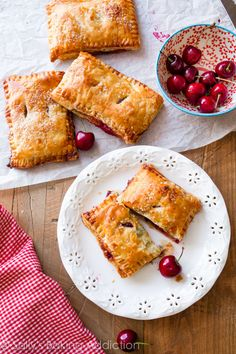 Simple Cherry Pastry Pies are easier than you think! | sallysbakingaddiction.com