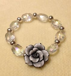 Chunky crystal bracelet  by azCreationsByAlyssa on Etsy