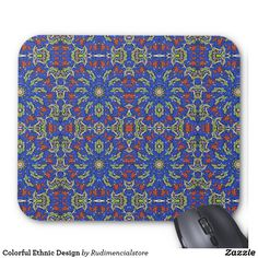 Colorful Ethnic Design Zazzle Mouse Pad