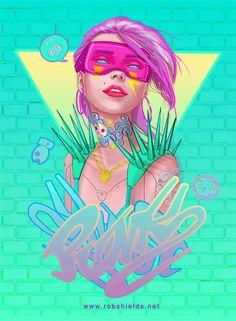 ArtStation - Graffiti Girl , Rob Shields