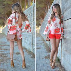 Abaday Blouse, Zara Shorts, Choies Sandals, Primark Handbag, Primark Necklace