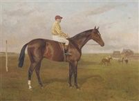 Mackintosh a bay colt with Sam Loates up at Newmarket by Alfred Grenfell Haigh