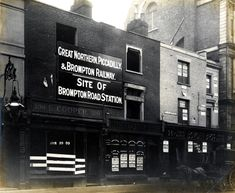Taken Jan 23, 1903 on Brompton Road. The Great Northern Piccadilly and Brompton Railway Company were in the process of building the Piccadilly Line. The photographs formed part of a legal record of the condition of the buildings above the new line. Brompton Road Station... didn't have a long life... It closed in 1934.