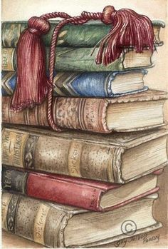 Old books with tassel I Love Books, Good Books, Free Books, Retro, Poster Print, Book Images, Vintage Images, Book Worms, Book Lovers