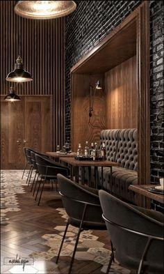 VWArtclub - Dubai Bar Back Bar Design, Pub Design, Bar Interior Design, Coffee Shop Design, Lounge Design, Bar Lounge, Cafe Interior, Modern Restaurant Design, Restaurant Seating