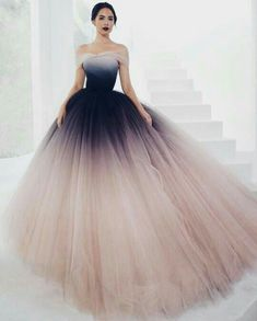 Off-the-shoulder Ombre Prom Dresses Unique Prom Dress Long Evening Dresses Evening Dress Unique Prom Dresses Ombre Evening Dress Long Prom Dress Prom Dresses 2019 Ombre Prom Dresses, Tulle Prom Dress, Quinceanera Dresses, Ombre Gown, Ball Gown Dresses, Dresses Dresses, Dresses Online, Ball Gowns Prom, Party Gowns