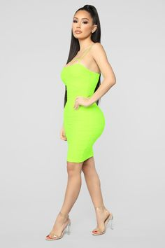 a8a697d4d224c 23 Best neon green dresses images | Wedding ideas, Alon livne ...