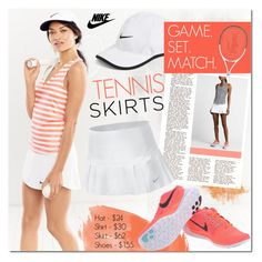 Game. Set. Match. by justlovedesign on Polyvore featuring polyvore, fashion, style, NIKE, Lacoste, nike and tennisstyle
